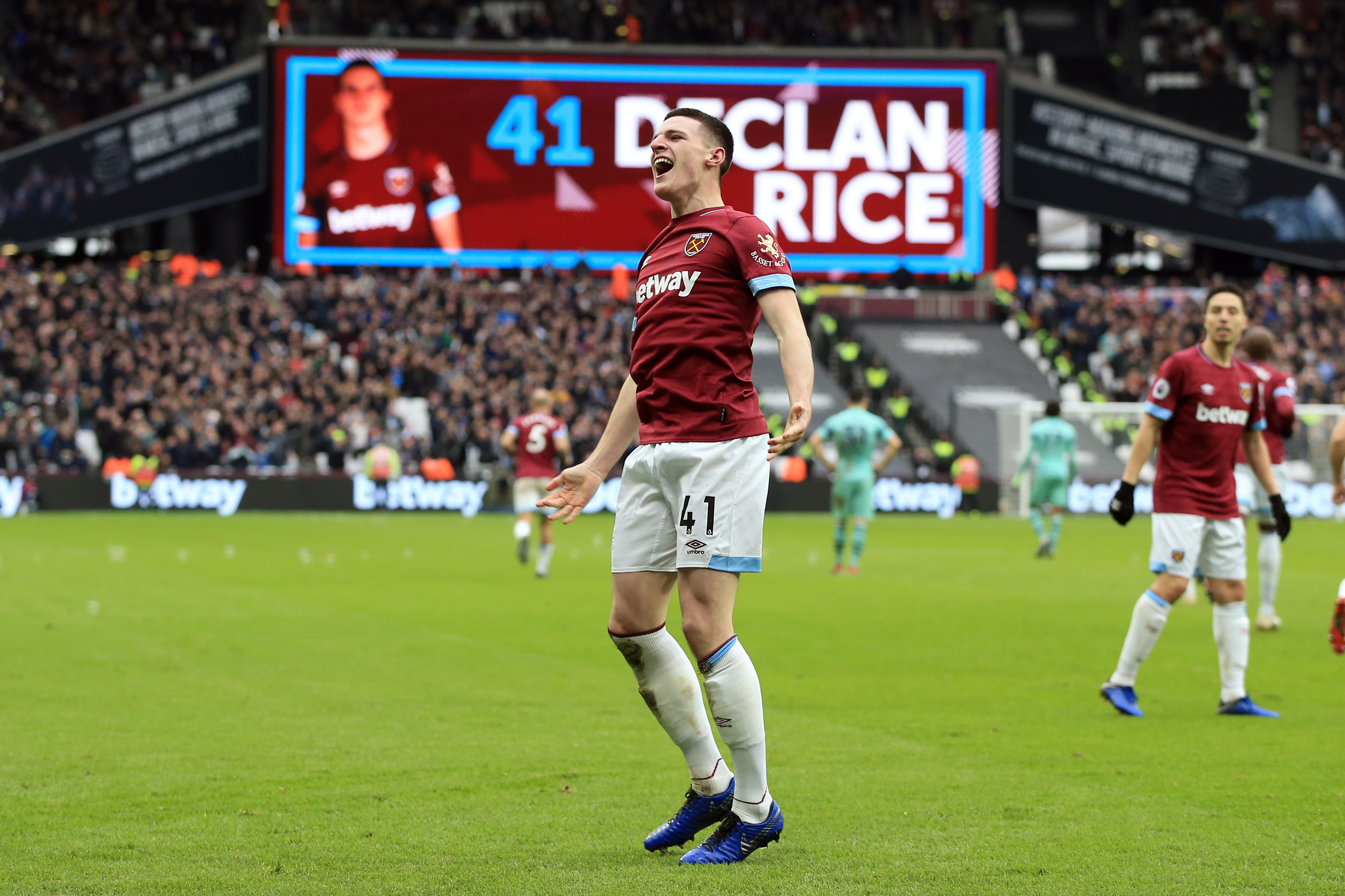 West Ham United slap £80m price tag on Declan Rice who is seen in the picture