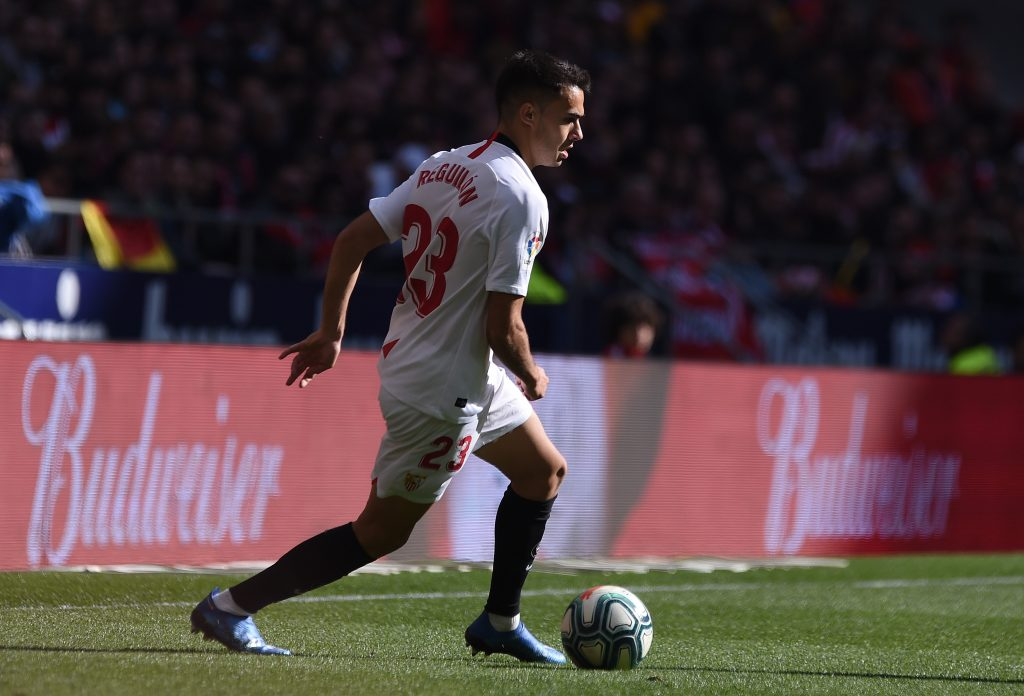 Everton table an £18m offer for Real Madrid full-back Reguilon who is in action in the picture