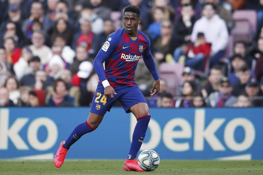 Barcelona's Junior Firpo is on Napoli's radar this month (Firpo is in action in the picture)