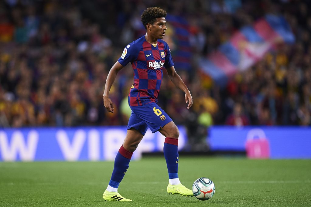 Wolves receive positive update in pursuit of Barcelona's Todibo who is seen in the picture
