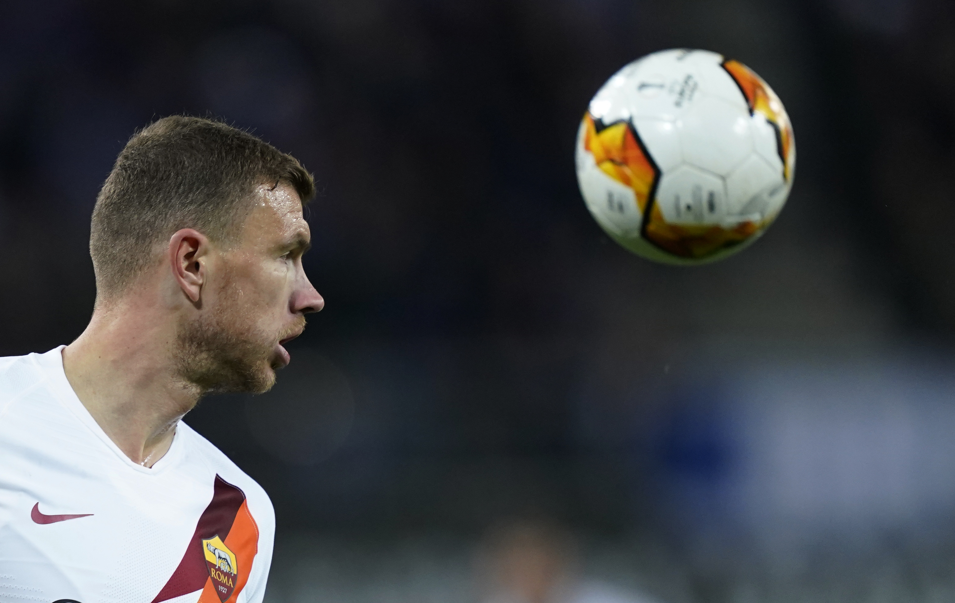 Southampton reportedly launched an offer for Dzeko who is seen in the photo