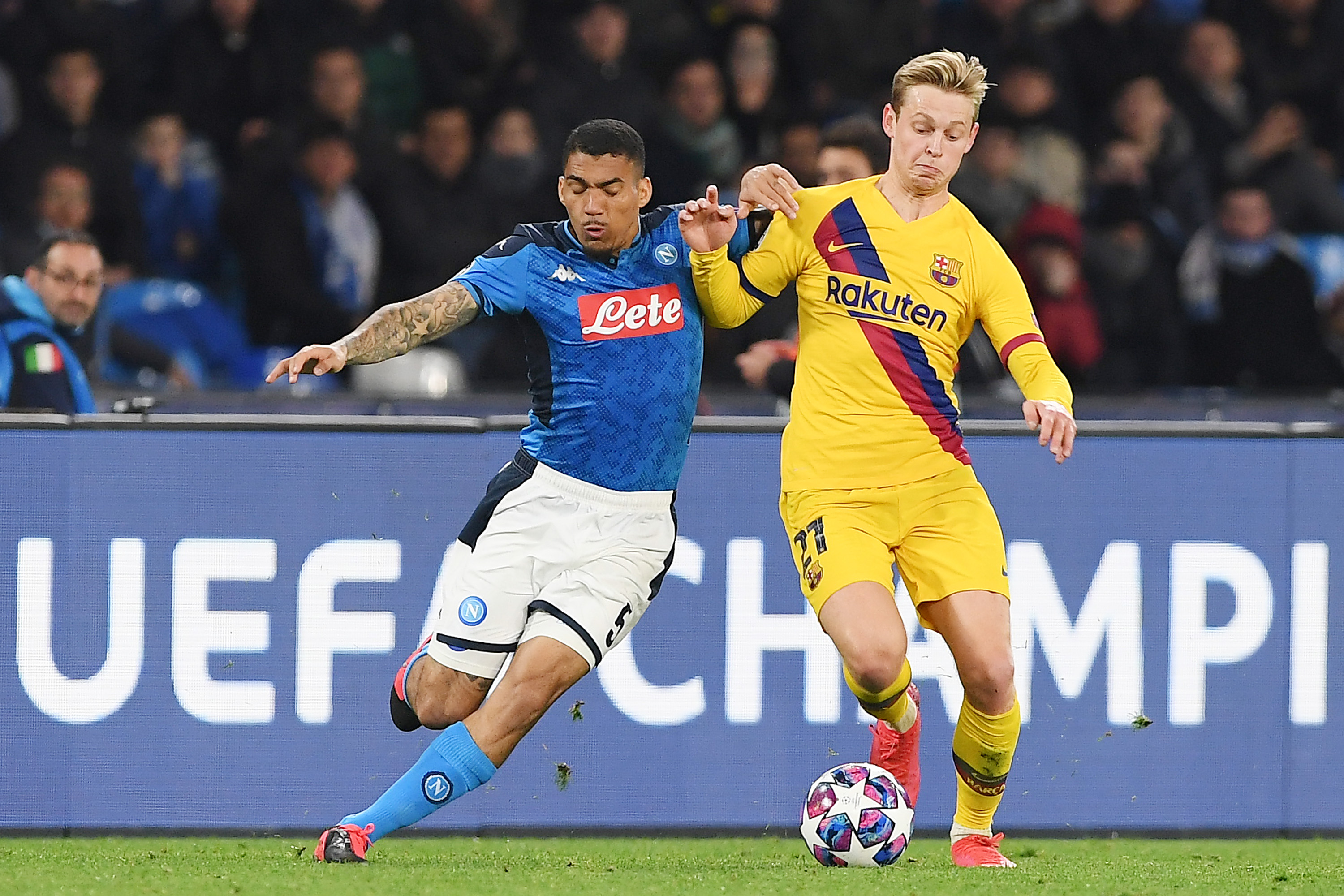 Everton set to win the race for Napoli midfielder Allan who is in action in the picture