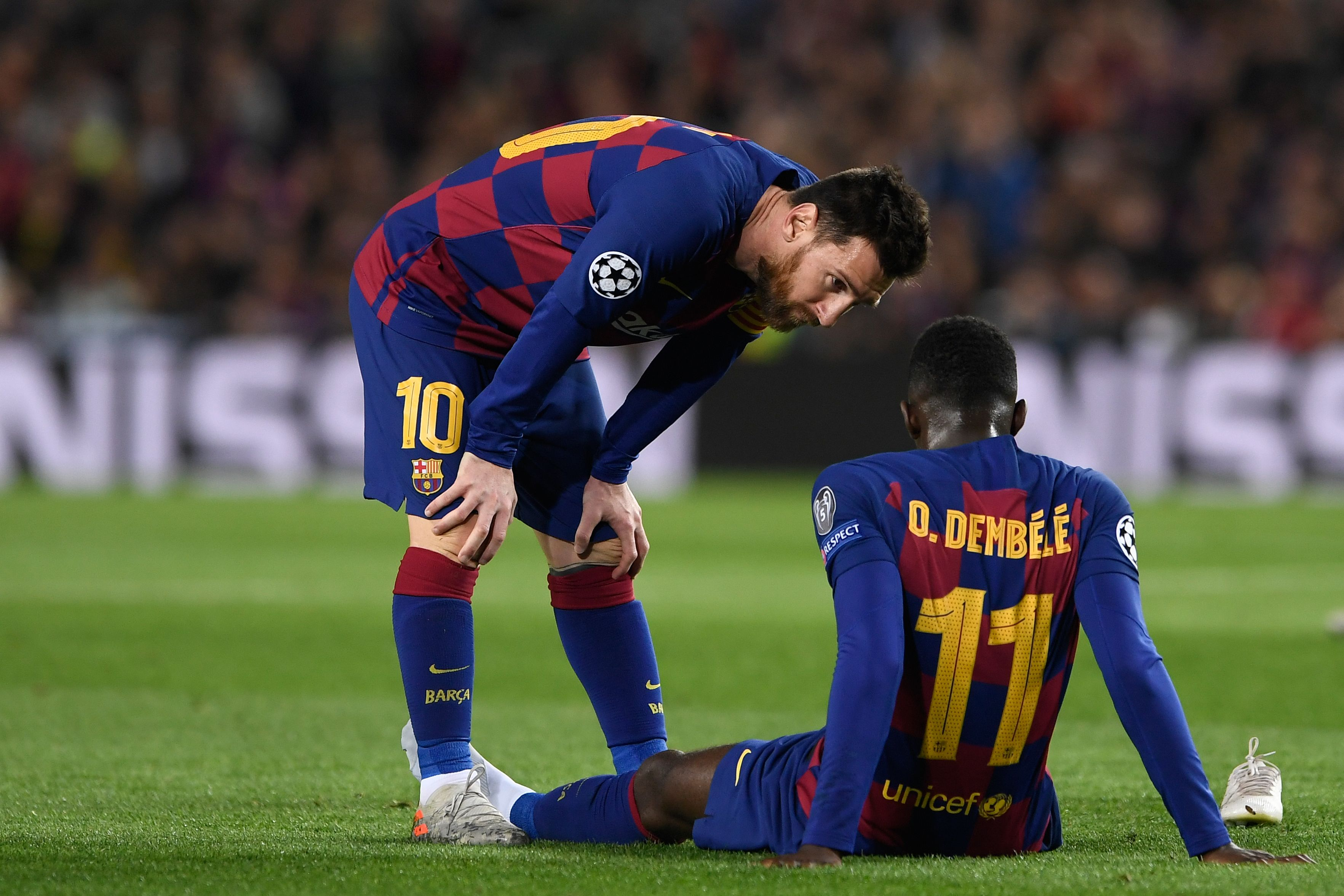 Manchester United target Ousmane Dembele after an injury