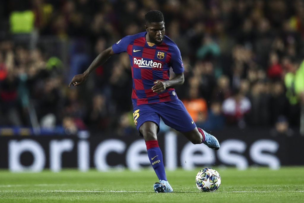 Barcelona willing to listen to offers for Umtiti who is seen in the picture