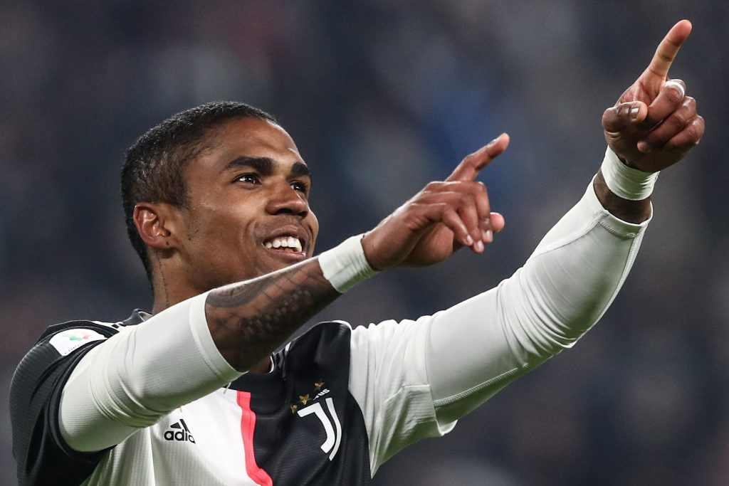 Manchester United showing interest in recruiting Douglas Costa who is seen in the picture