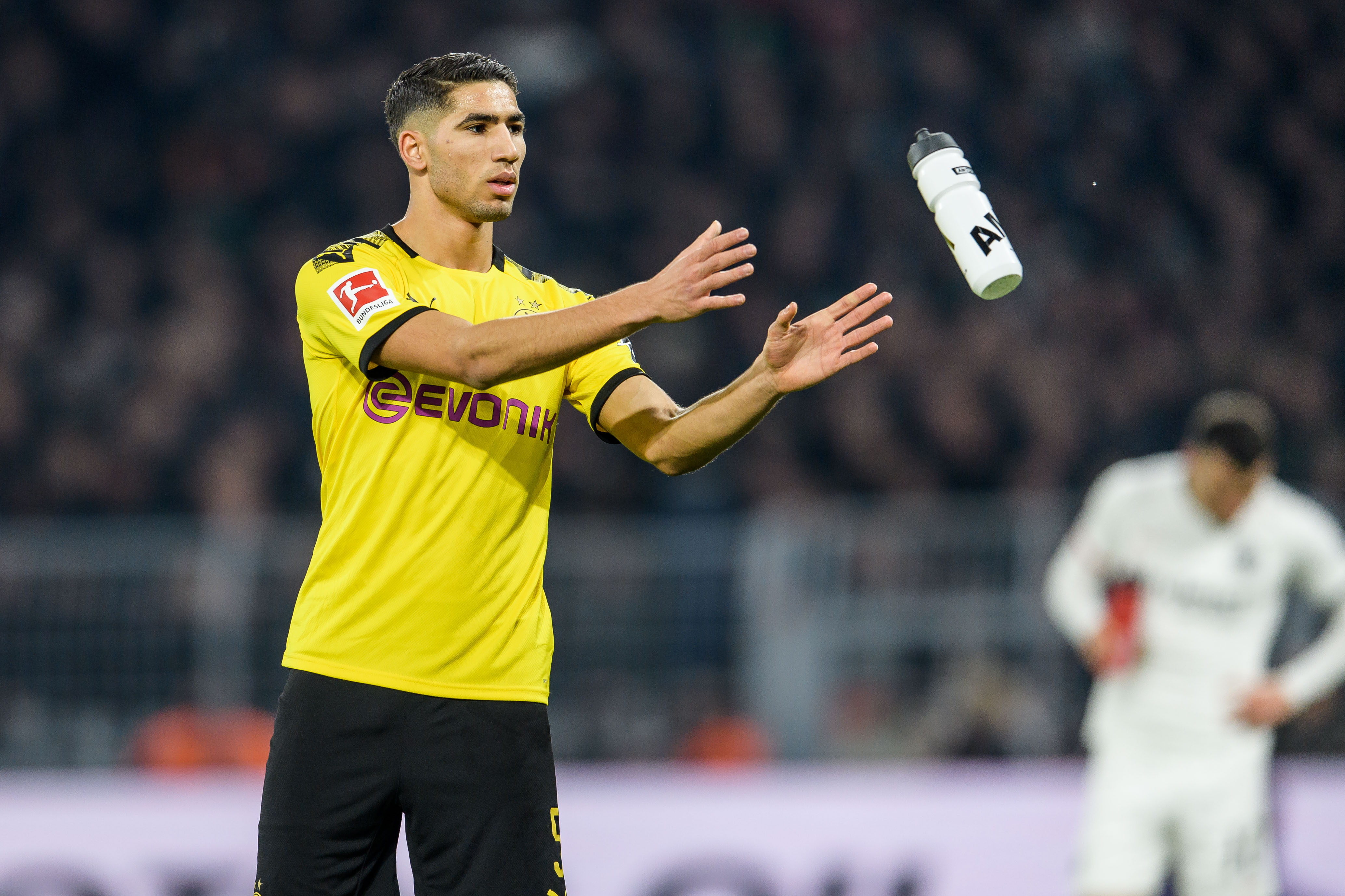 Manchester City keeping a keen aye on Achraf Hakimi who is seen in the photo