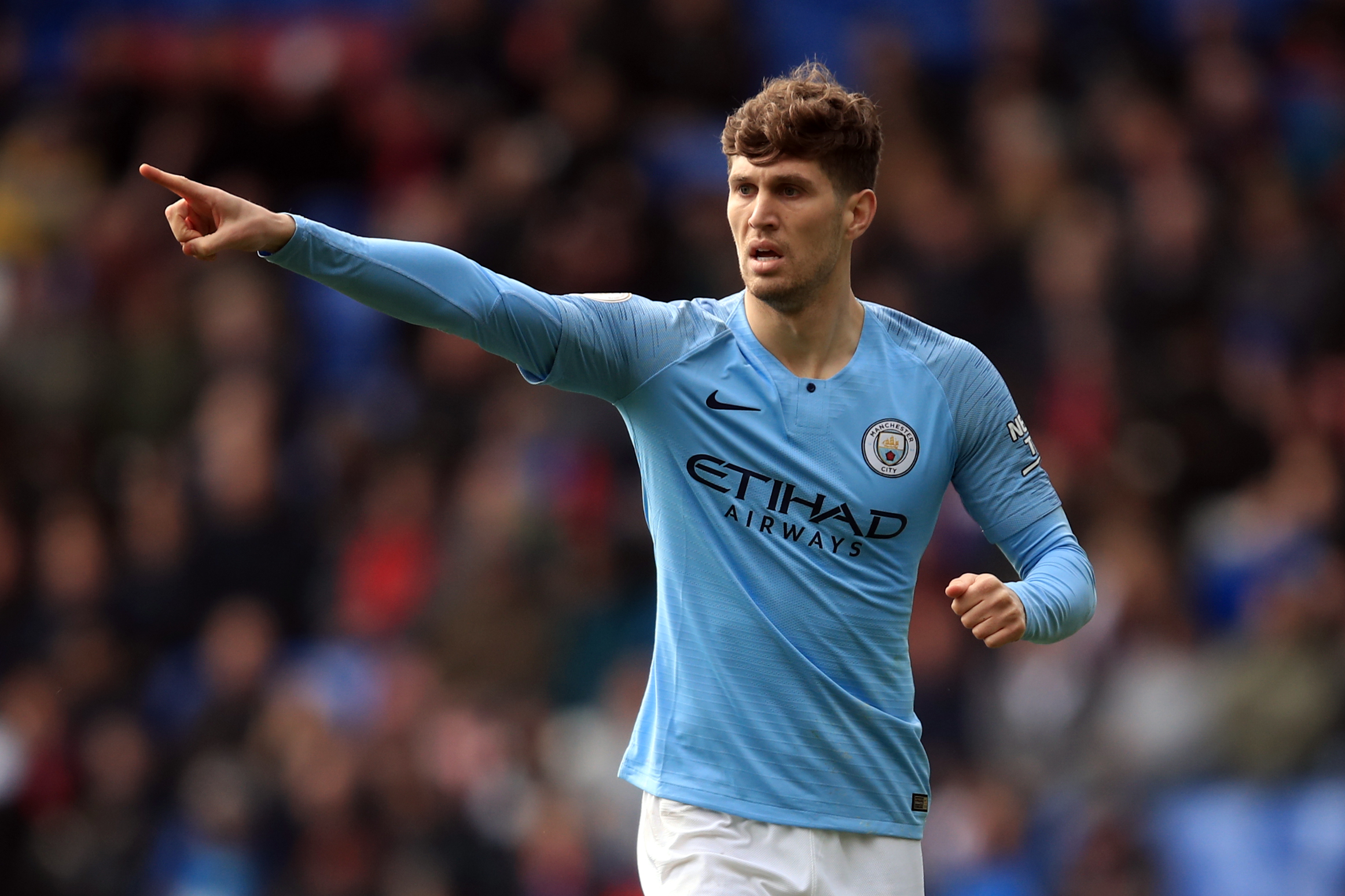 Kevin Phillips Urged John Stones To Move To Newcastle United - Stones points during a match