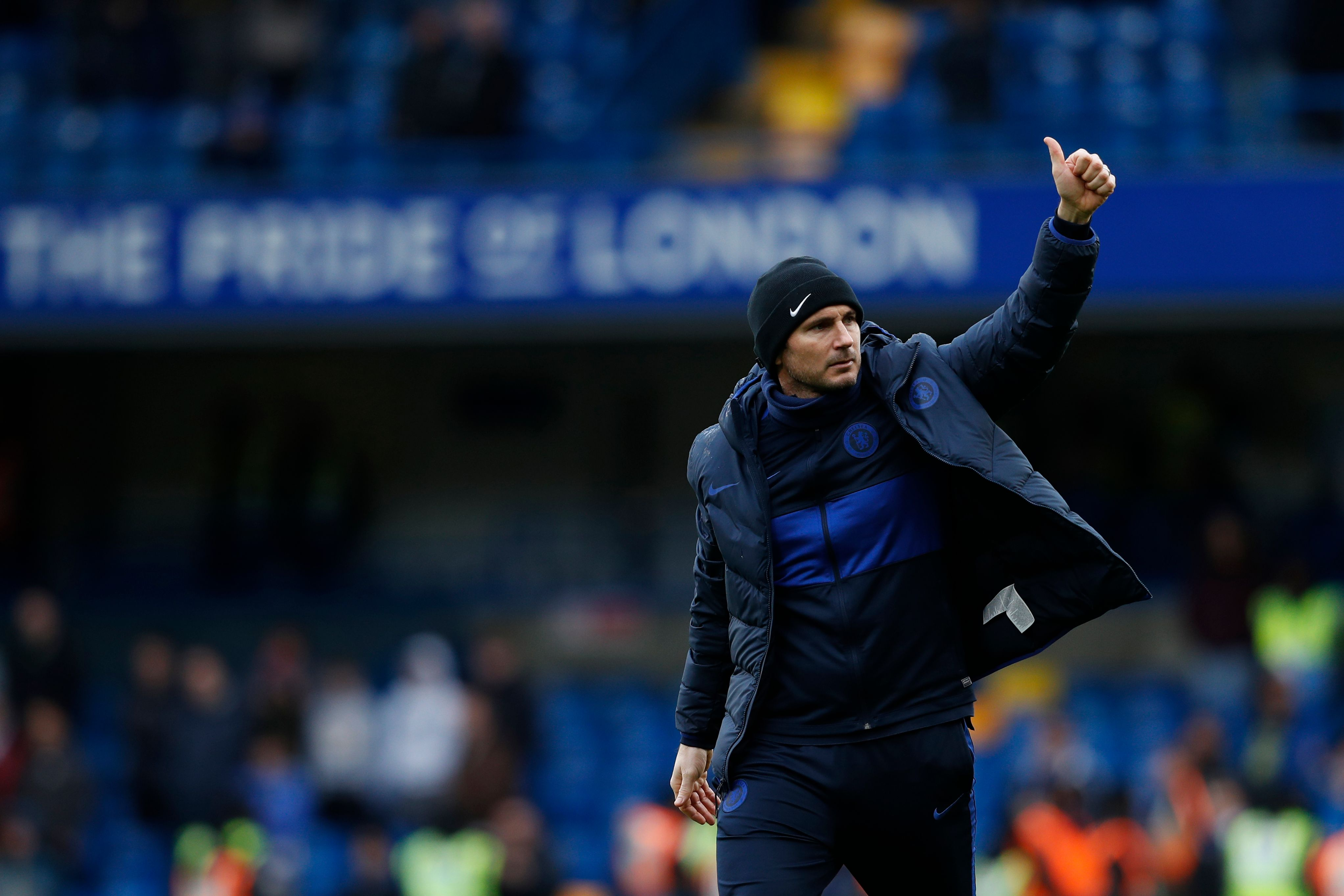 Chelsea Interested In Three Bundesliga Superstars - Lampard gestures to the fans