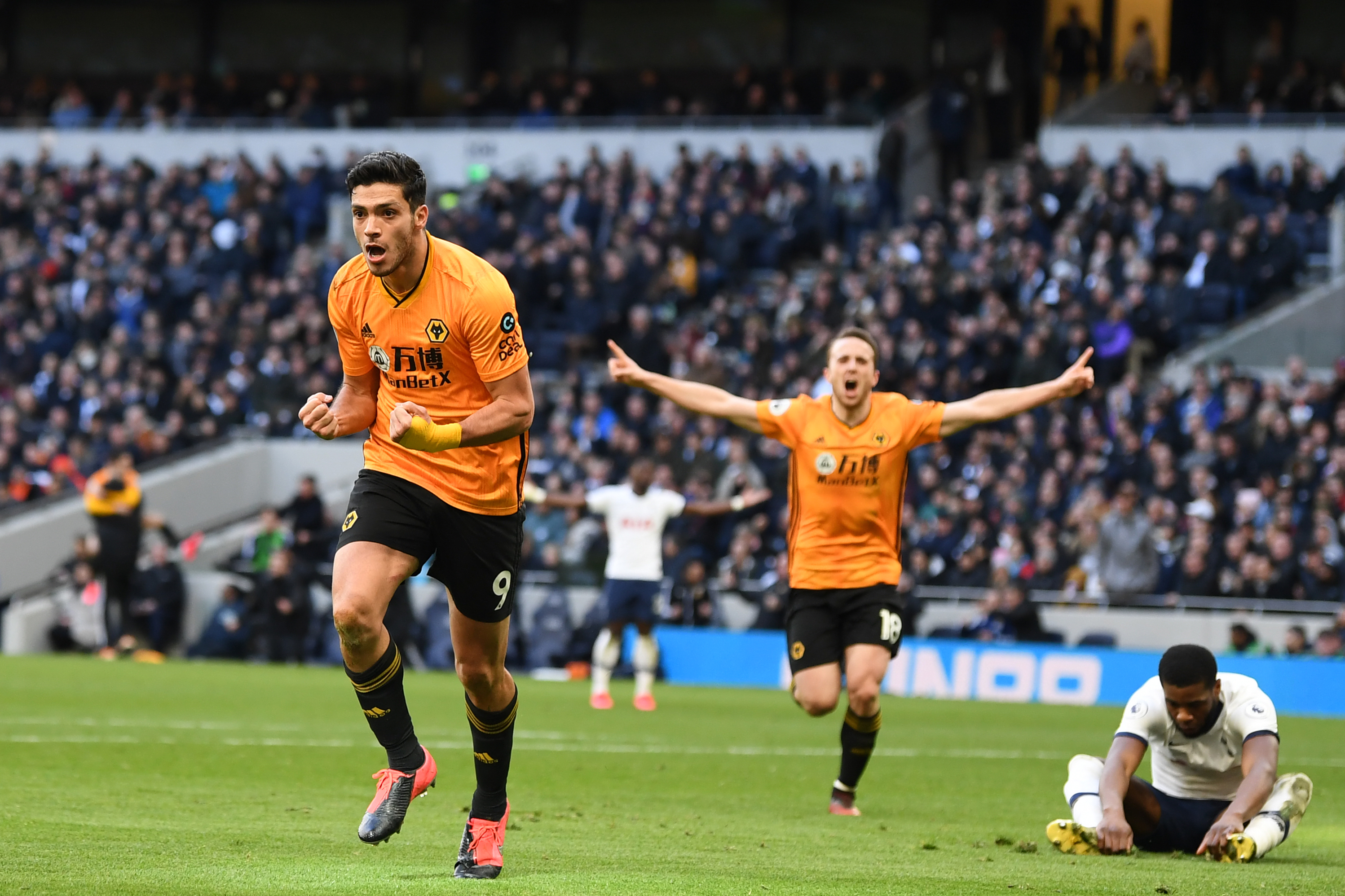 3-4-3 Wolves Predicted Lineup Vs Aston Villa (Wolves players celebrating in the photo)