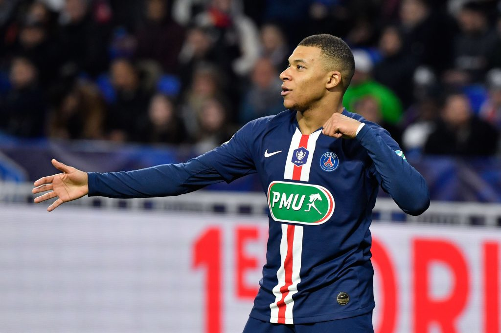 Liverpool boss Jurgen Klopp keen on a move for Mbappe who is celebrating in the photo