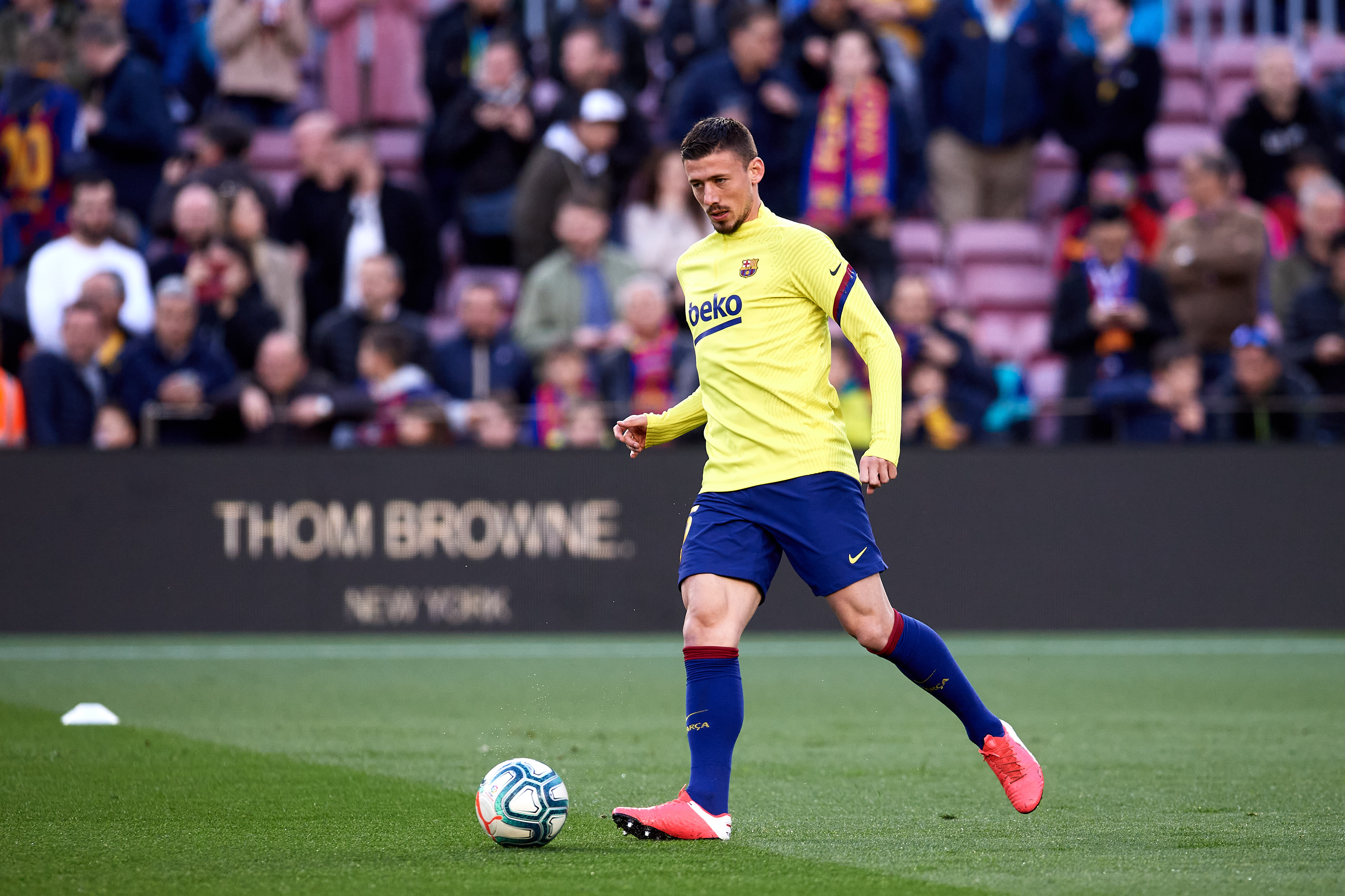 Barcelona looking to extend Clement Lenglet's contract (Lenglet is in action in the photo)