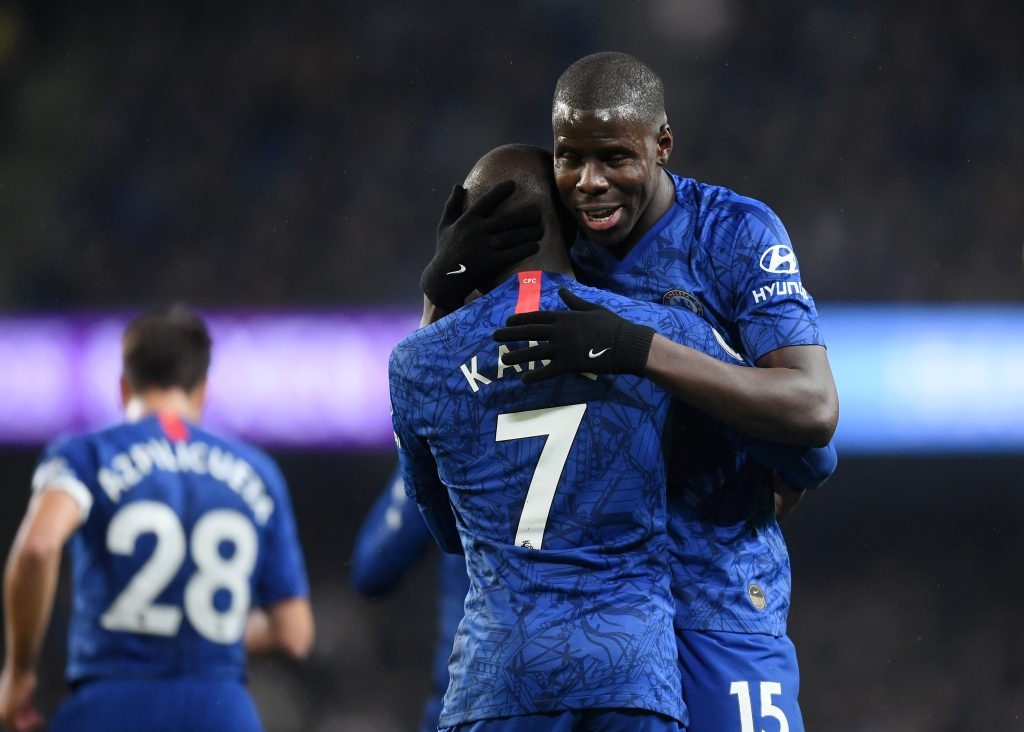 N'Golo Kante To Miss Remainder Of The Season - Kante hugs Kurt Zouma