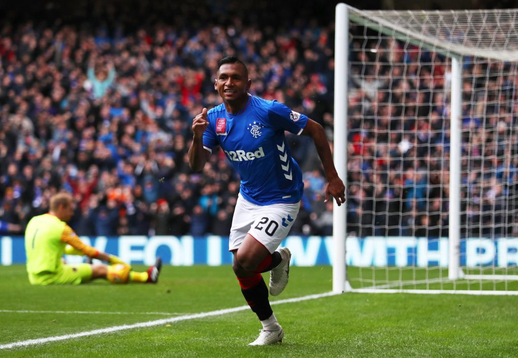Kenny Miller reckons Morelos, who is celebrating in the photo, will leave Rangers this summer