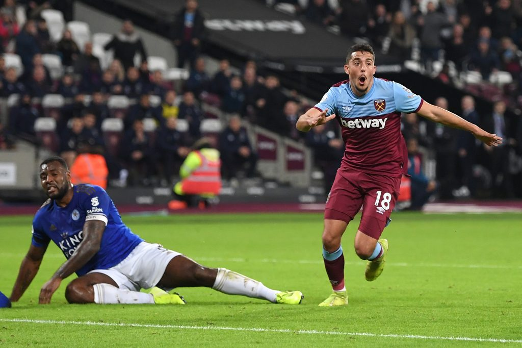 Napoli Eyeing West Ham's Pablo Fornals - Fornals celebrating a goal