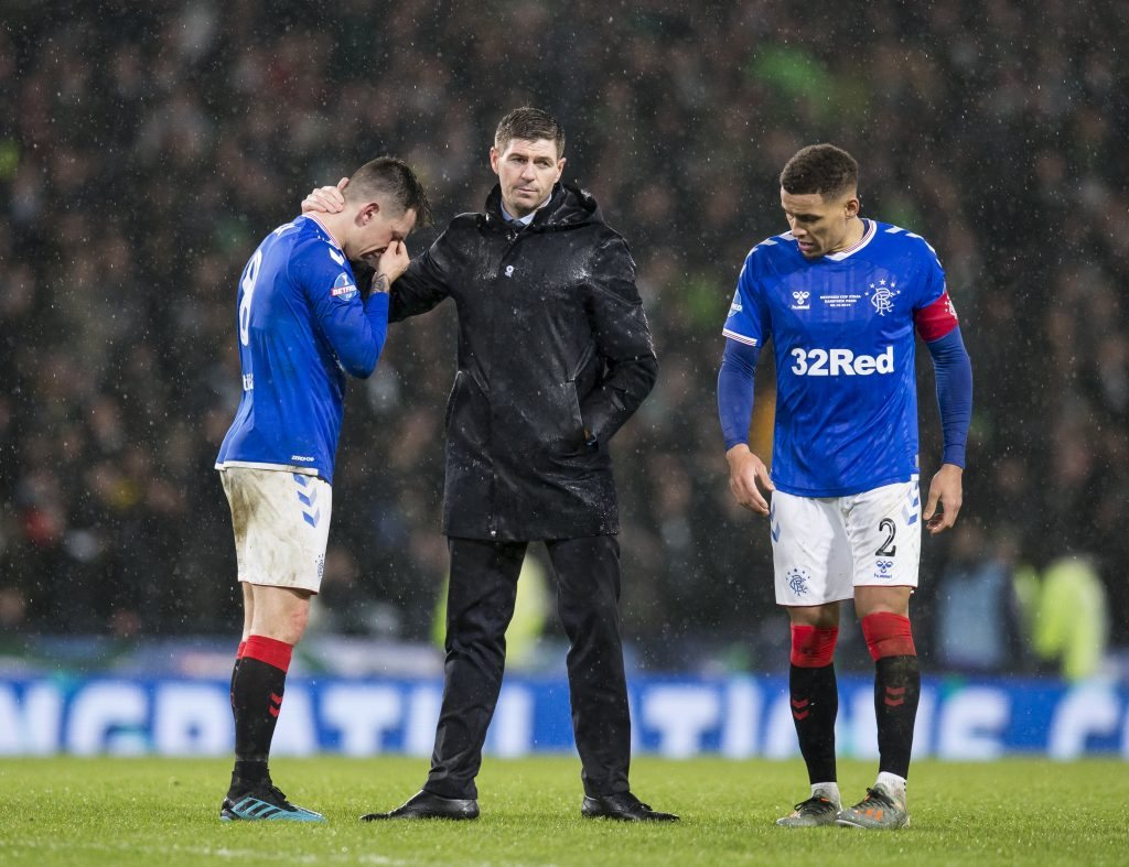 Rangers Are Close To Tony Weston Signing - Gerrard consoles a player