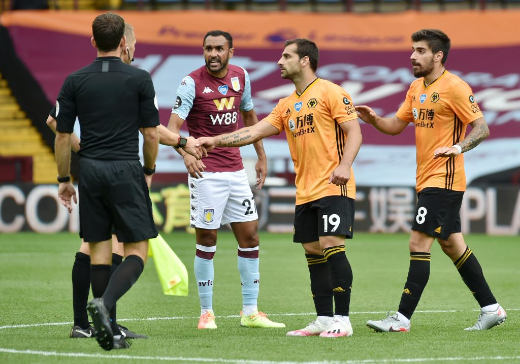 4-3-3 Aston Villa Predicted Lineup Vs Manchester United (Aston Villa's Elmohamady seen in the picture