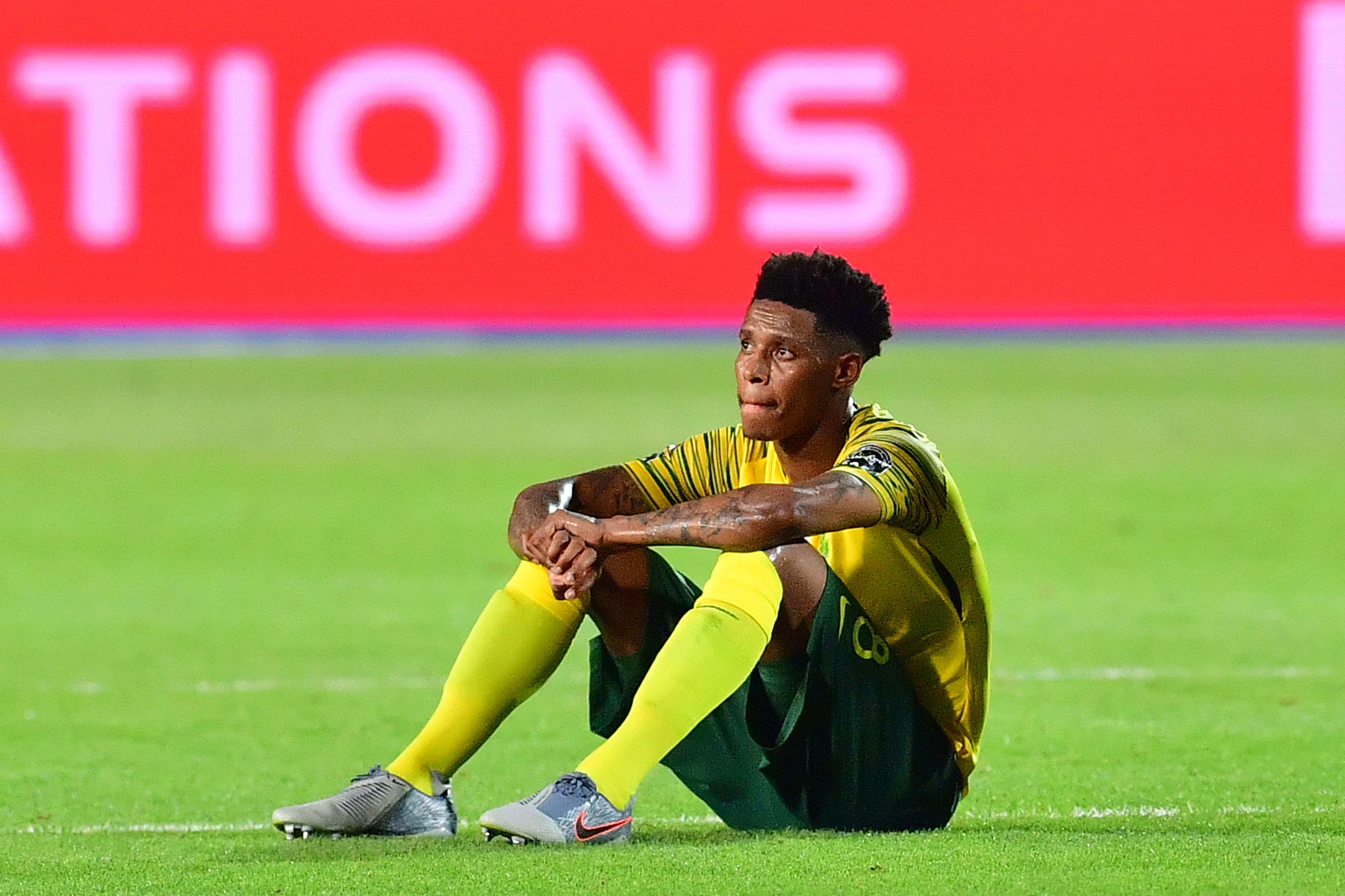 Rangers Are Interested In Bongani Zungu - Zungu reacts after a match