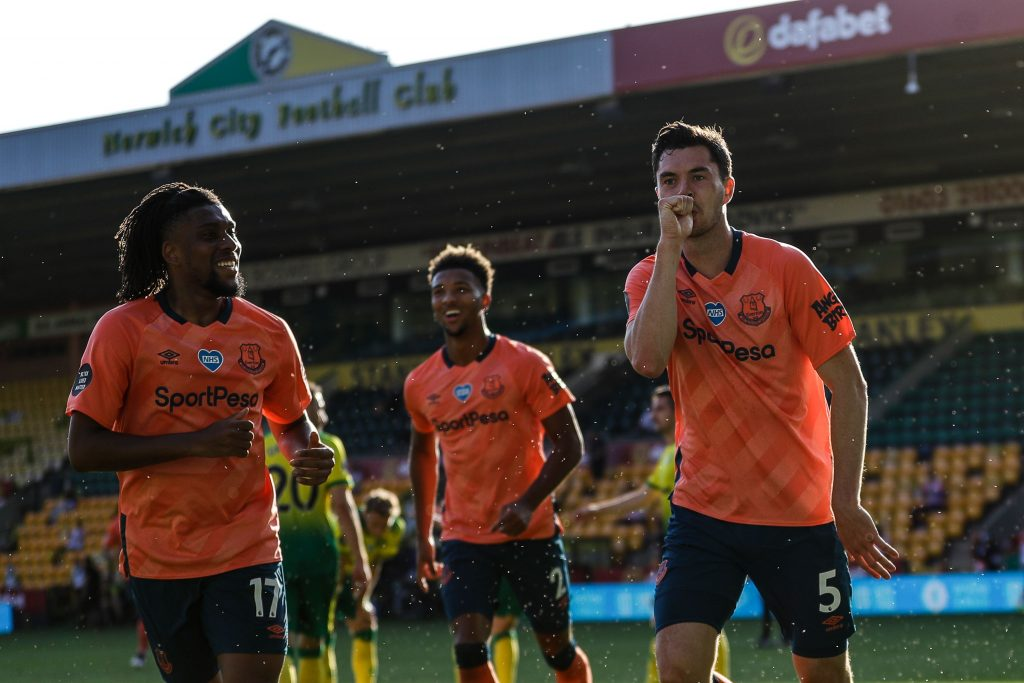 Everton's 2019-20 Premier League Season Review (Everton players celebrating in the photo)