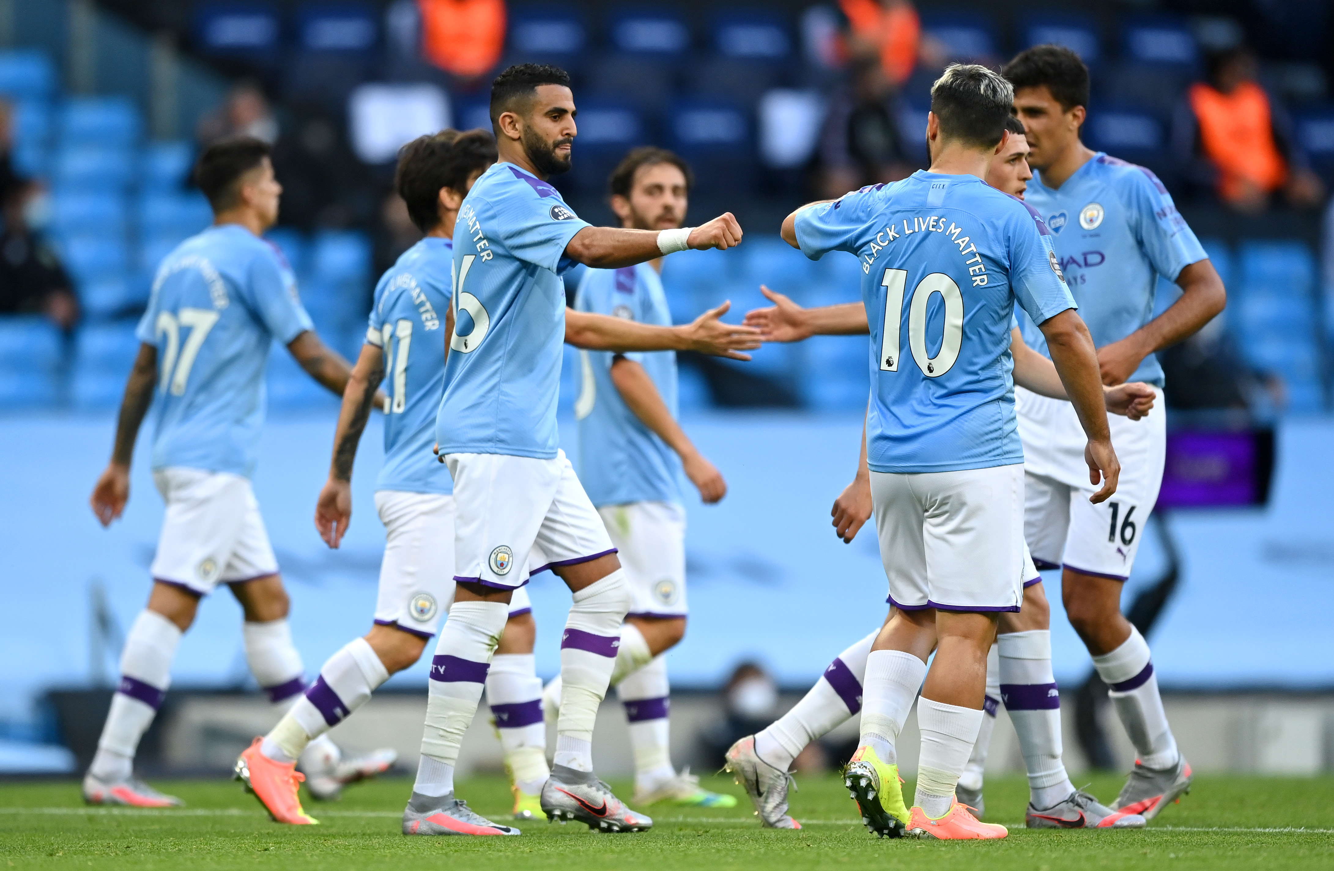 Tactical decisions Manchester City should make to win vs Liverpool (Man City players seen in the photo)