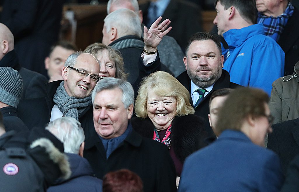 Ann Budge of Hearts in crowd