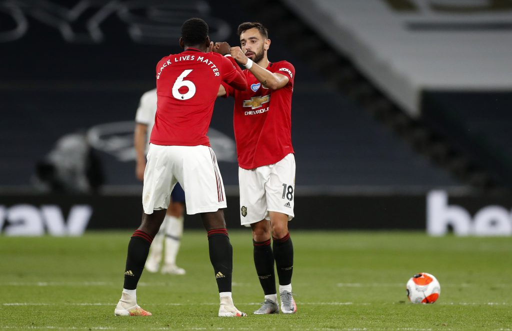 Manchester United Player Ratings Vs Tottenham - Paul Pogba and Bruno Fernandes