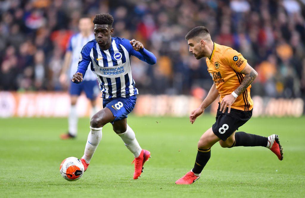 Brighton midfielder Yves Bissouma is on Arsenal's radar (Bissouma is seen in the photo)