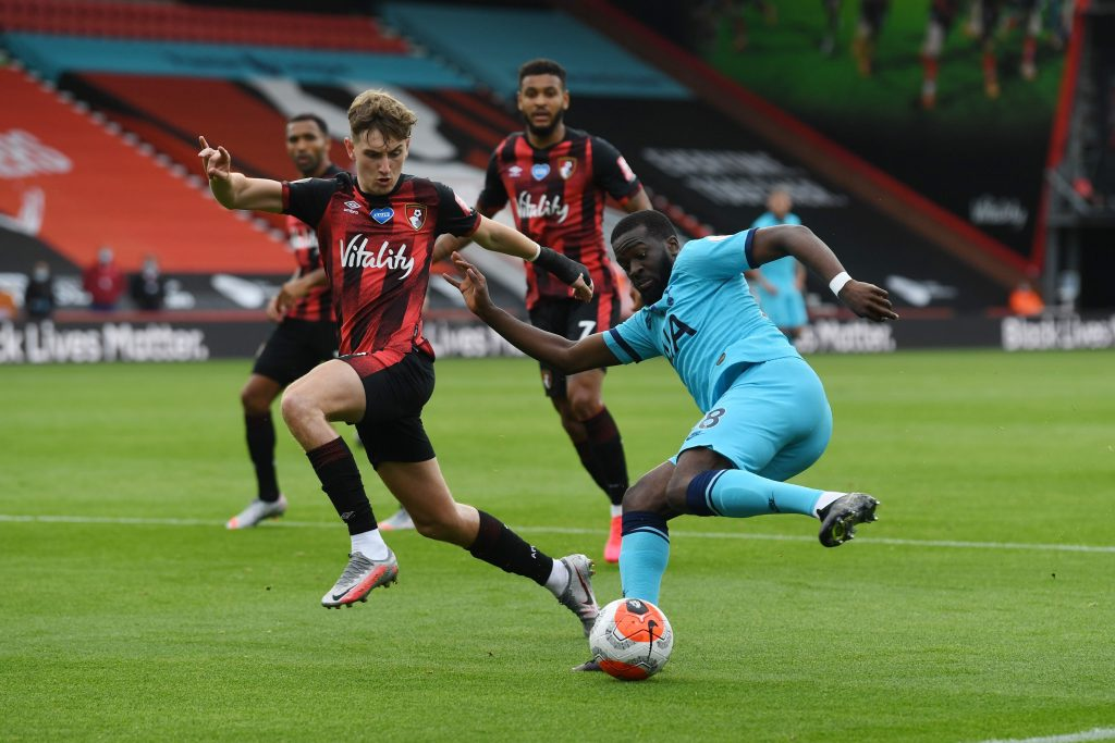 Newcastle United join race to recruit Bournemouth's David Brooks who is in action in the picture