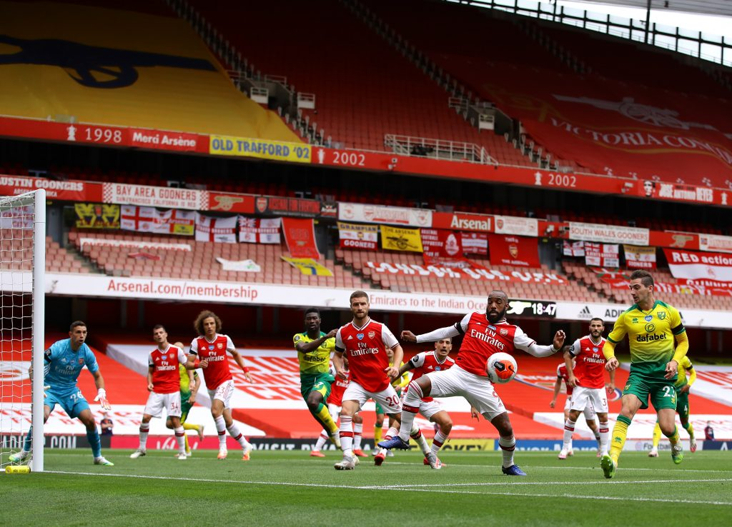 Arsenal Player Ratings Vs Norwich City - Arsenal defend a corner