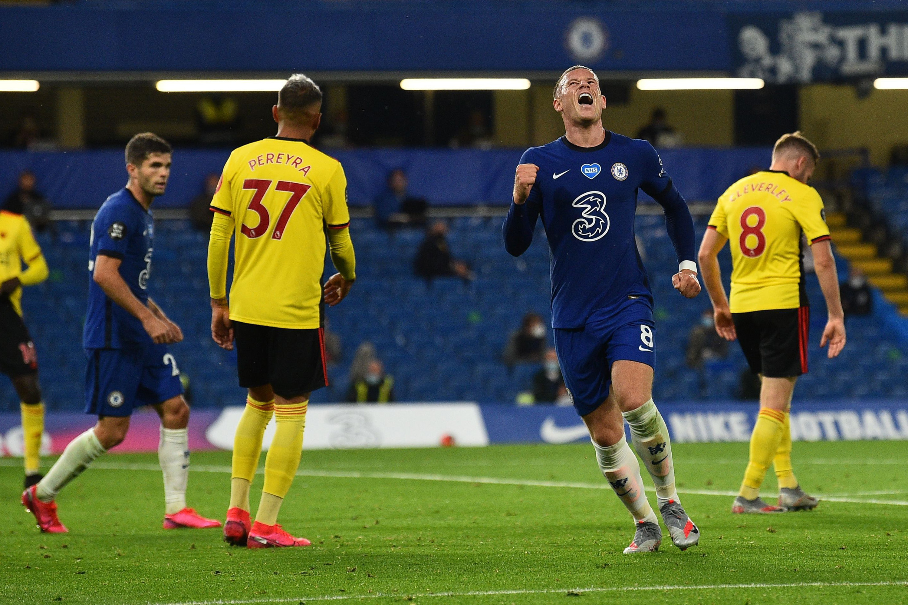 Chelsea Player Ratings Vs Watford - Barkley celebrates his goal