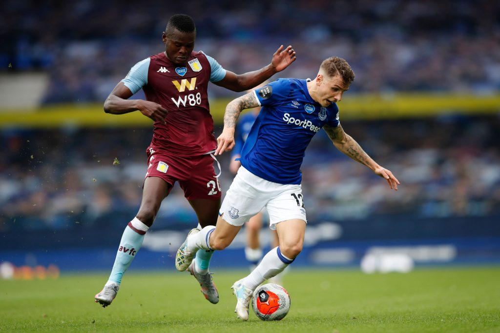 Everton players rated in hard-fought draw vs Aston Villa (Everton's Lucas Digne seen in the photo)