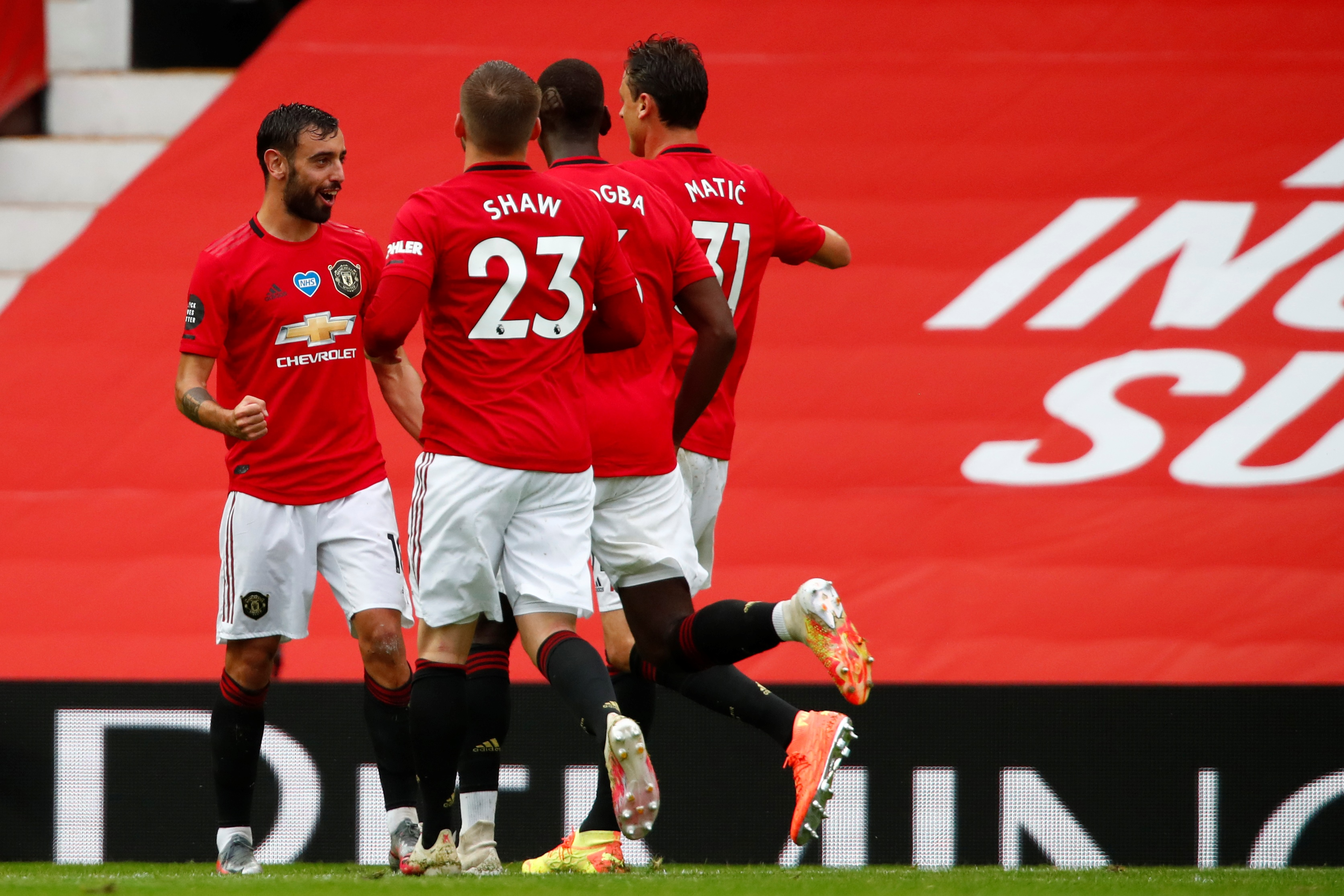 Crystal Palace Vs Manchester United Tactical Preview (Man United players celebrating in the picture)