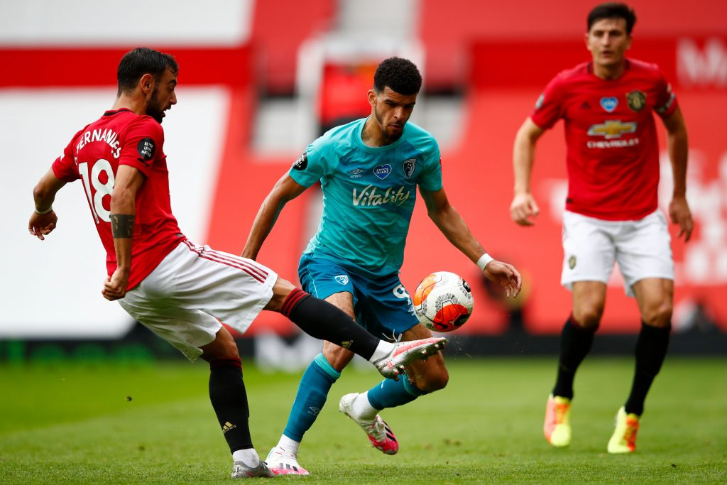 Manchester United players rated in dominant win vs Bournemouth (Man United's Bruno Fernandes in action in the photo)