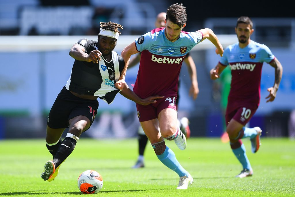 West Ham United player ratings vs Newcastle United (West Ham's Declan Rice seen in the photo)