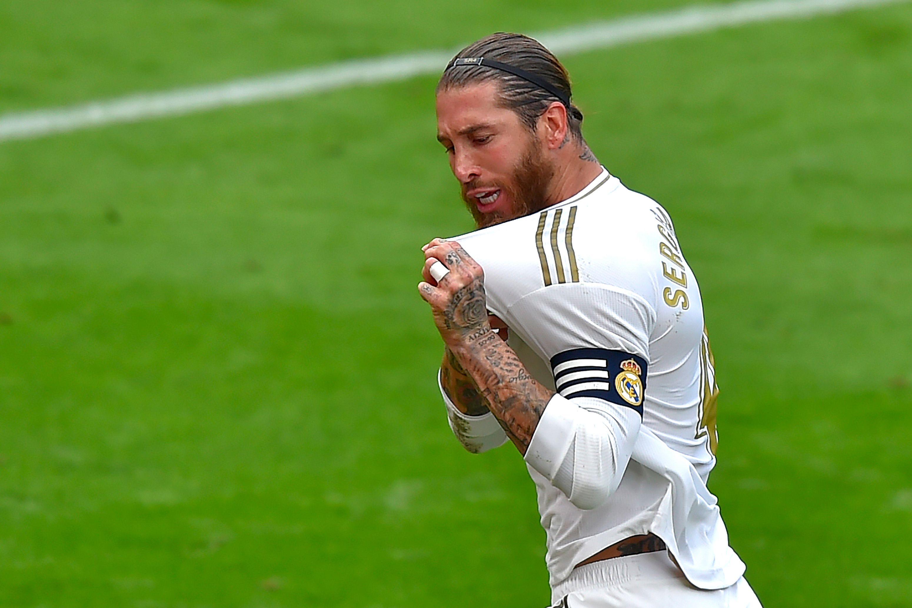Real Madrid Player Ratings Vs Athletic Bilbao - Ramos celebrates his goal