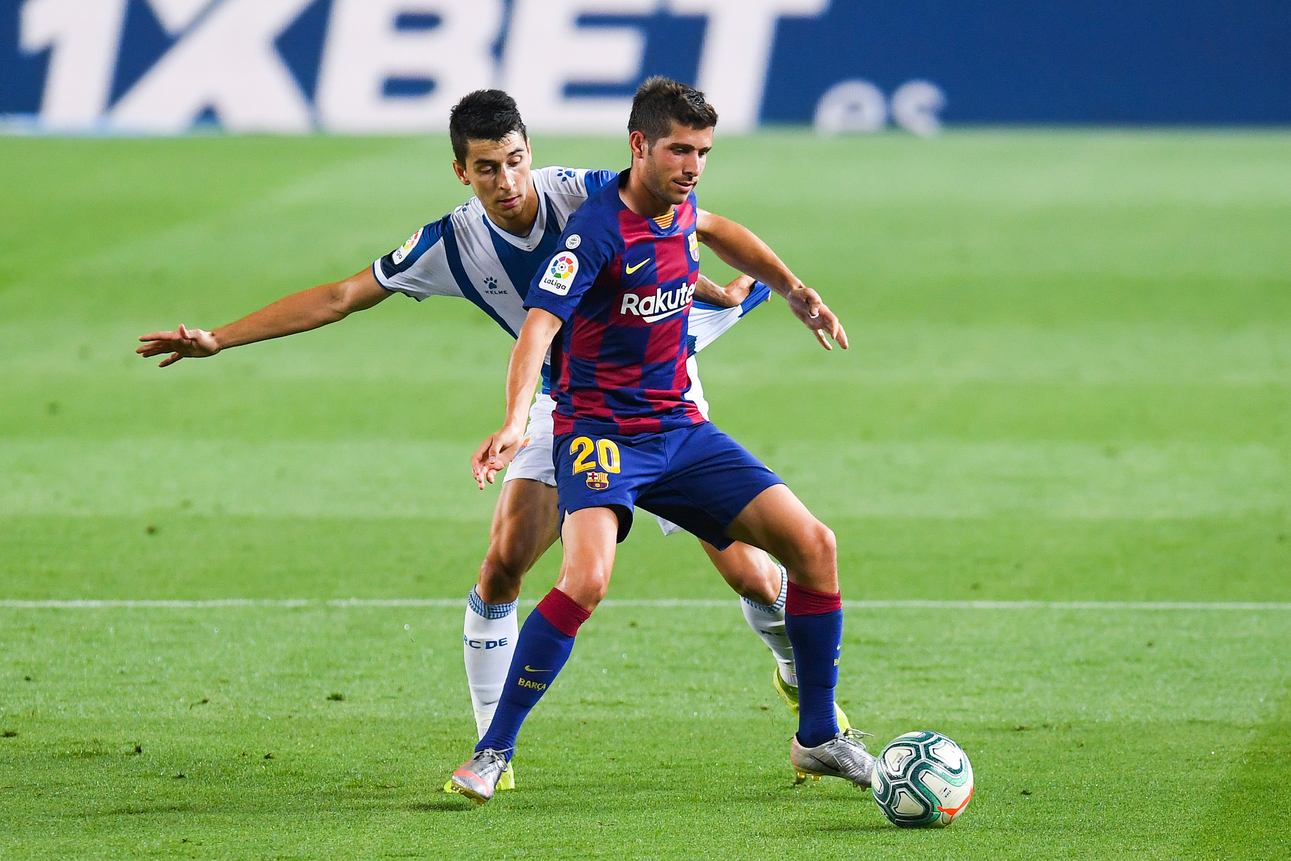 Barcelona Player Ratings Vs Espanyol - Sergi Roberto on the ball
