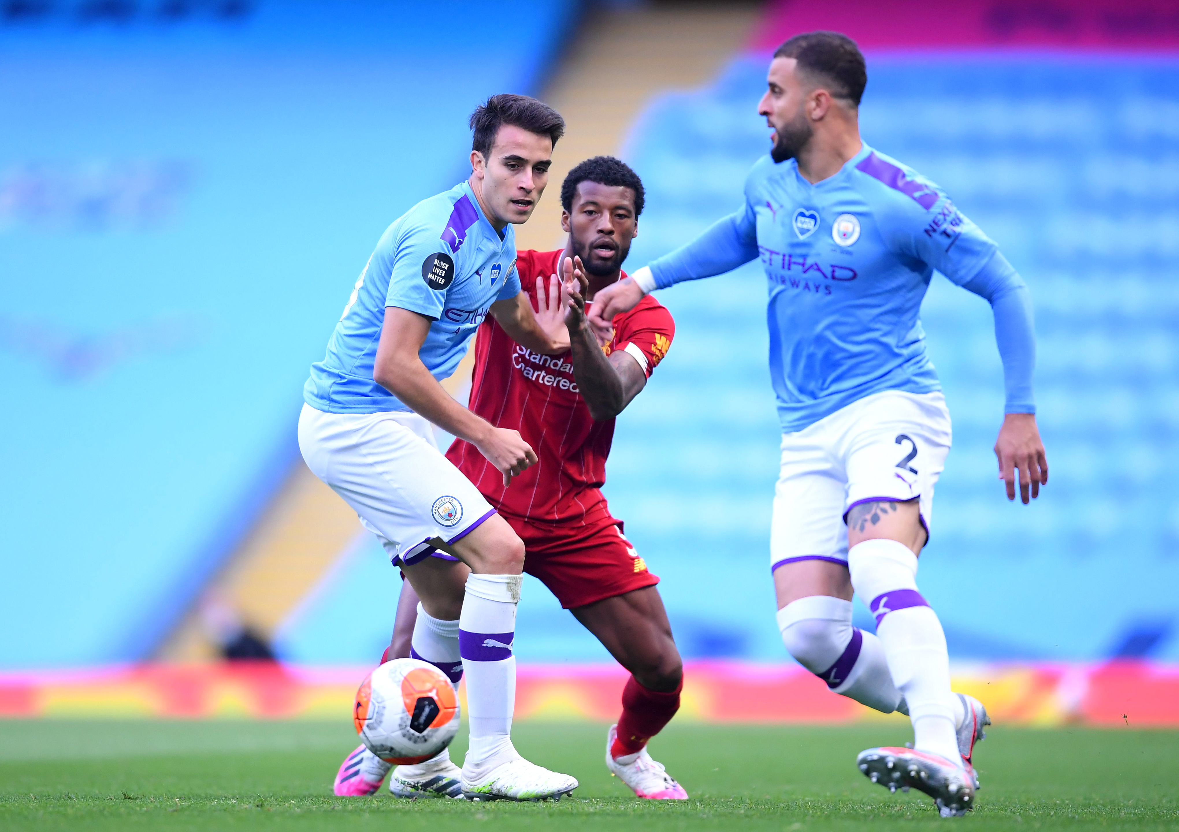 Liverpool's Wijnaldum gathering interest from Barcelona and Inter (Wijnaldum is in action in the picture)