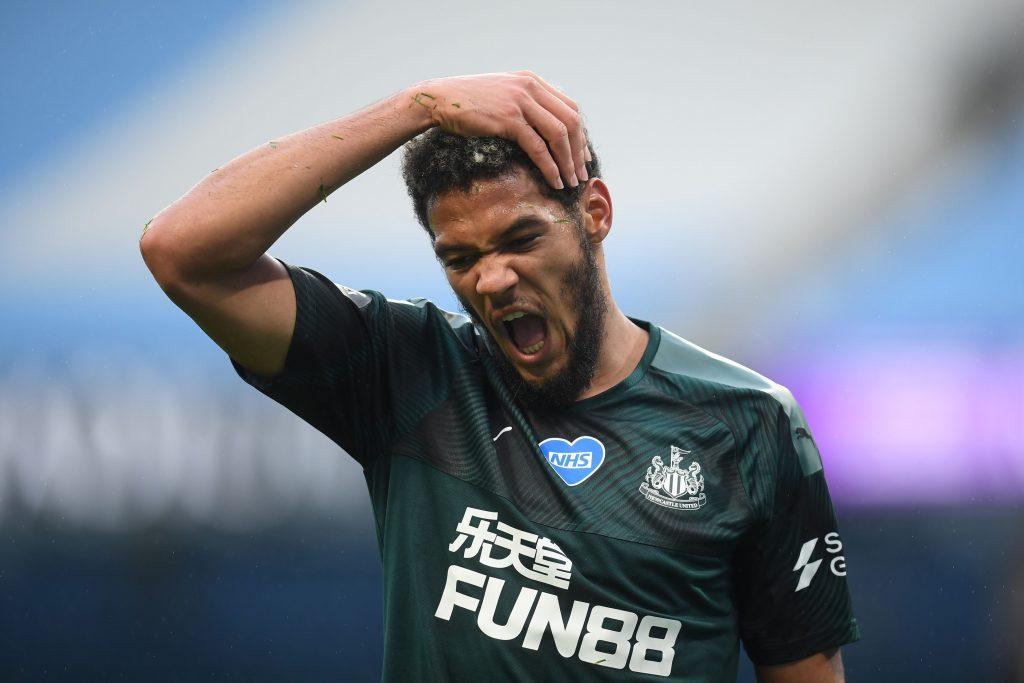 Newcastle United Player Ratings Vs Manchester City - Joelinton rubs his head