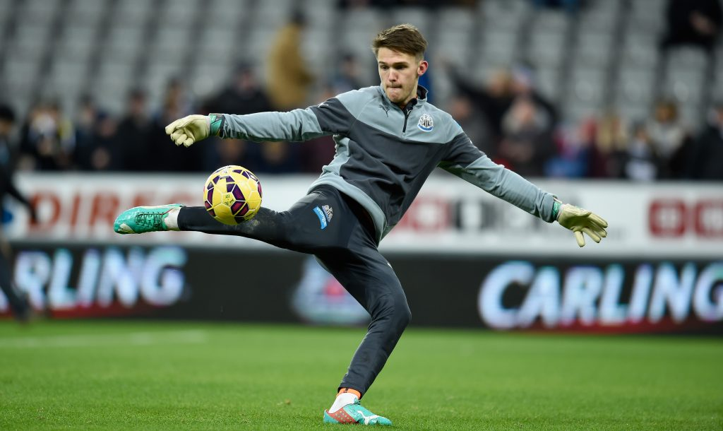 Celtic Are Interested In Newcastle United's Freddie Woodman - Woodman strikes the ball