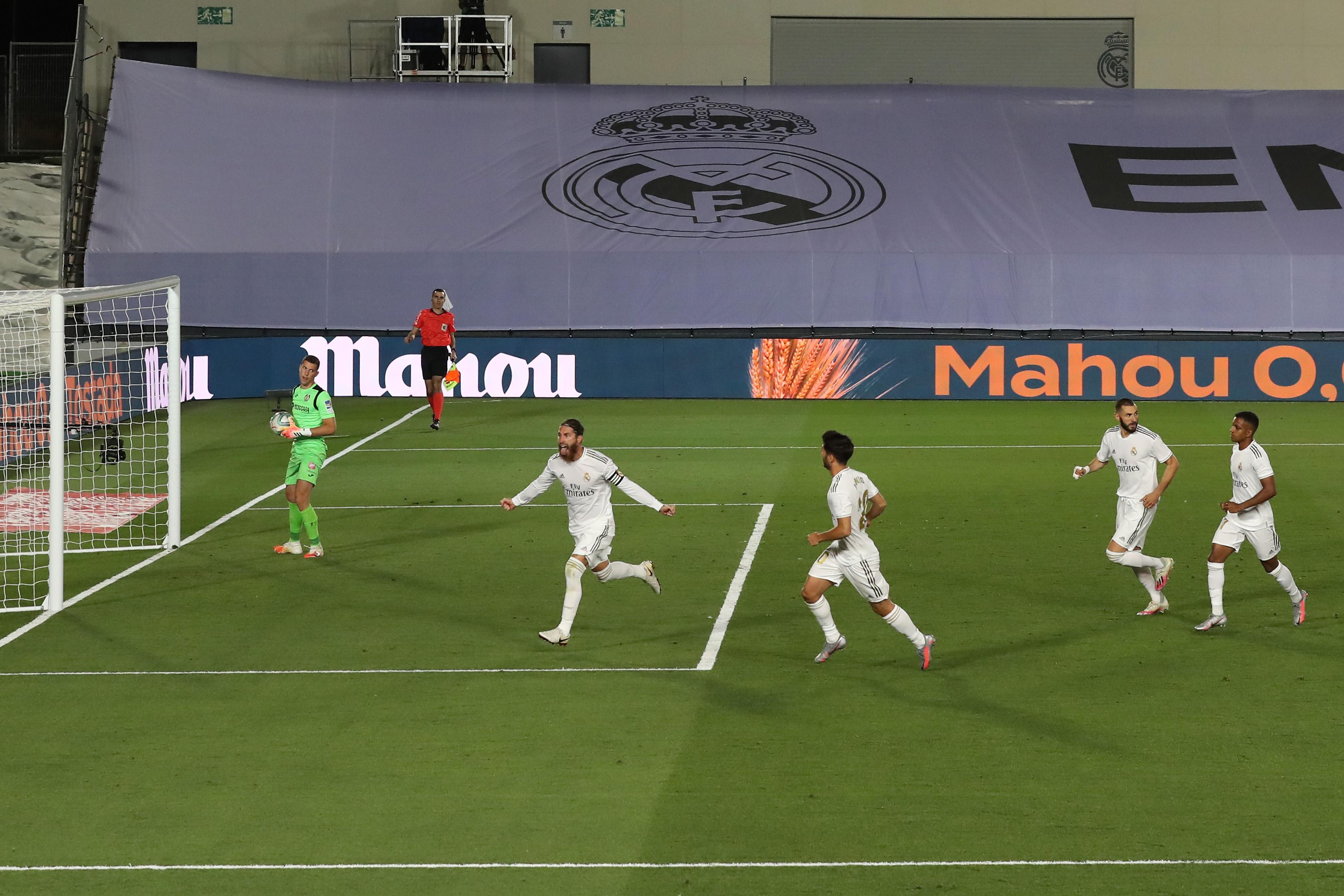 Real Madrid 1-0 Getafe – LaLiga Santander – FootballGH ...   Real Madrid- Getafe