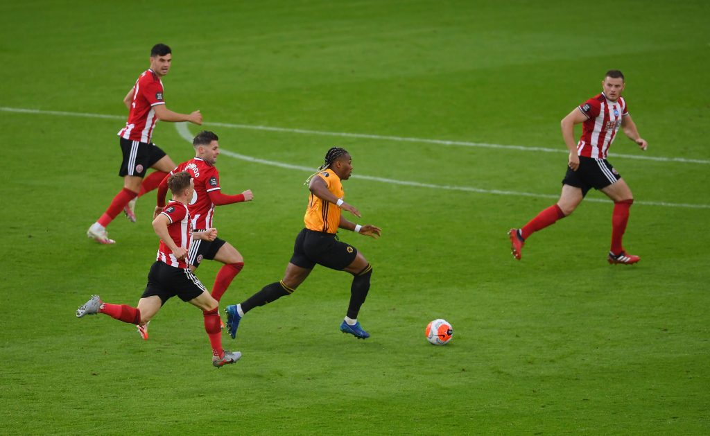 3-4-3 Wolves Predicted Lineup Vs Everton (Wolves' Adama Traore in action in the photo)