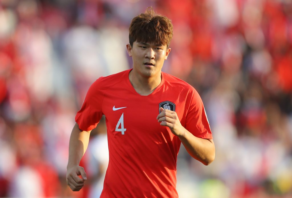 Everton face fierce competition in pursuit of Min-jae Kim who is seen in the picture