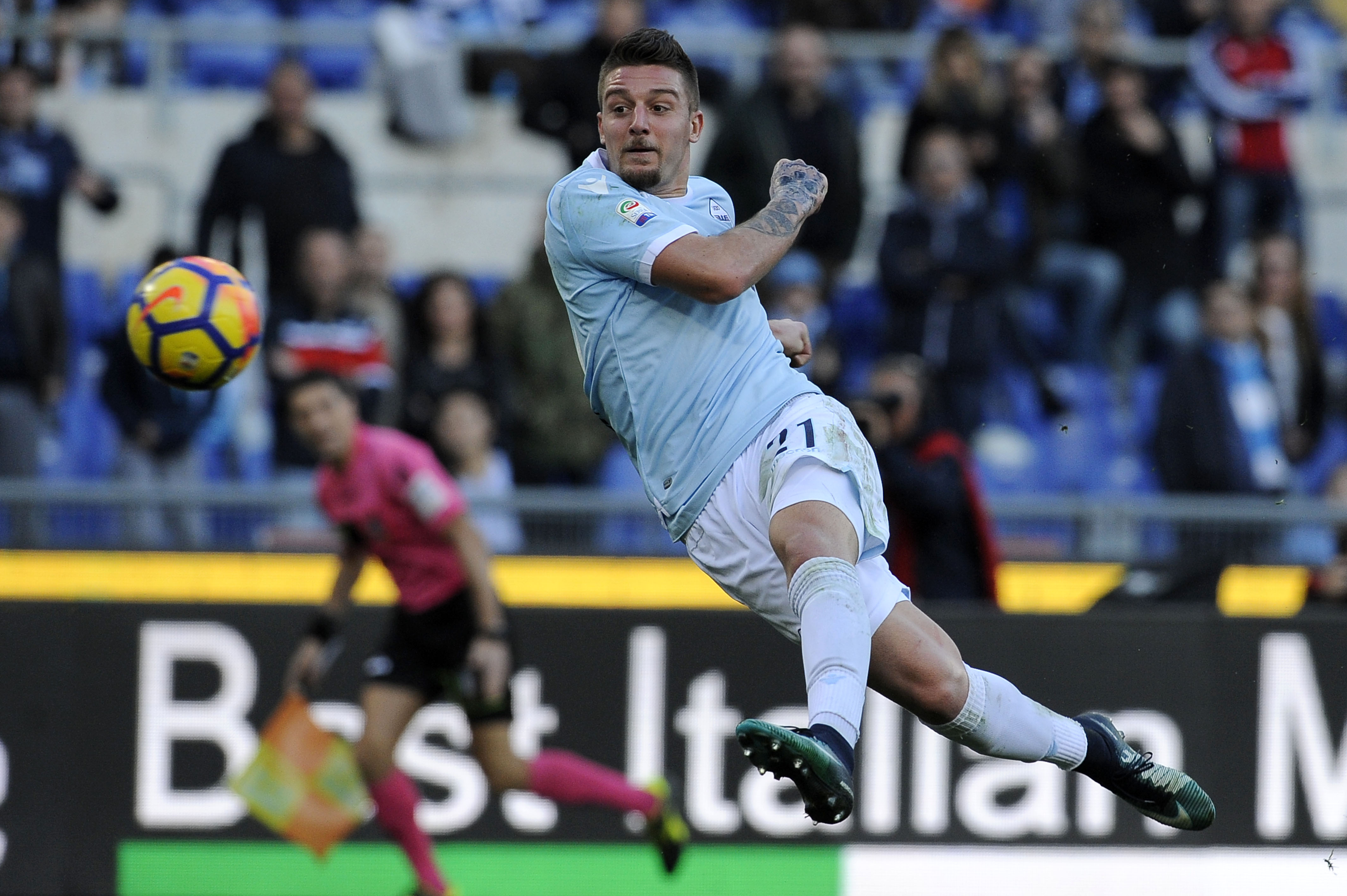 Sergej Milinković-Savić is on Tottenham Hotspur's radar this summer (Milinkovic Savic in action in the photo)