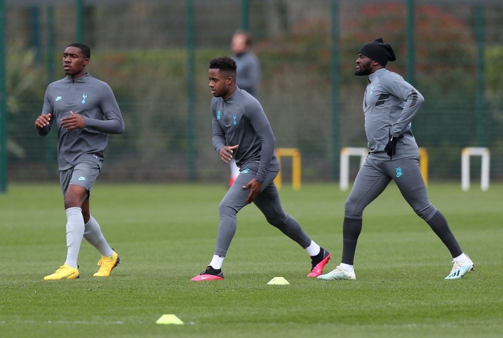 Barcelona keeping a keen eye on Ryan Sessegnon who is seen in training in the picture