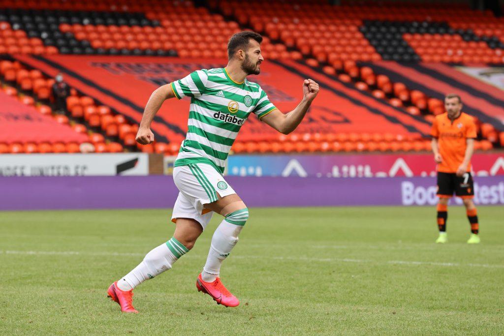 What Neil Lennon Can Do To Fix Celtic's Lingering Striker Woes - Ajeti celebrates