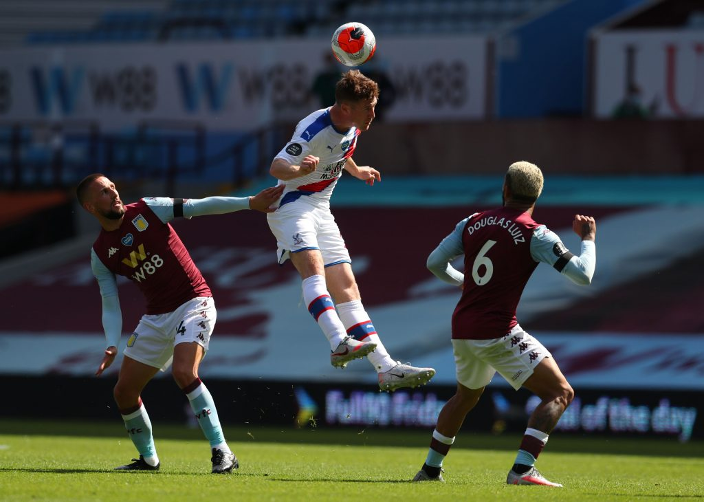 Aston Villa eyeing a £5m summer move for McCarthy who is seen heading the ball in the photo