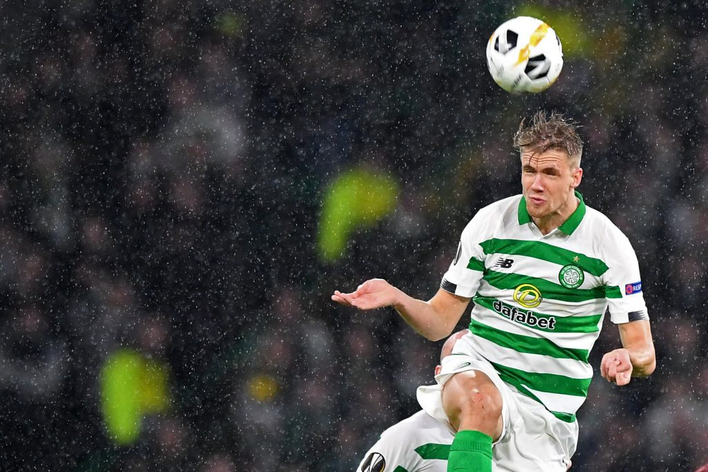 Norwegian Centre-Half Kristoffer Ajer Is In No Hurry To Leave Celtic - Ajer in action