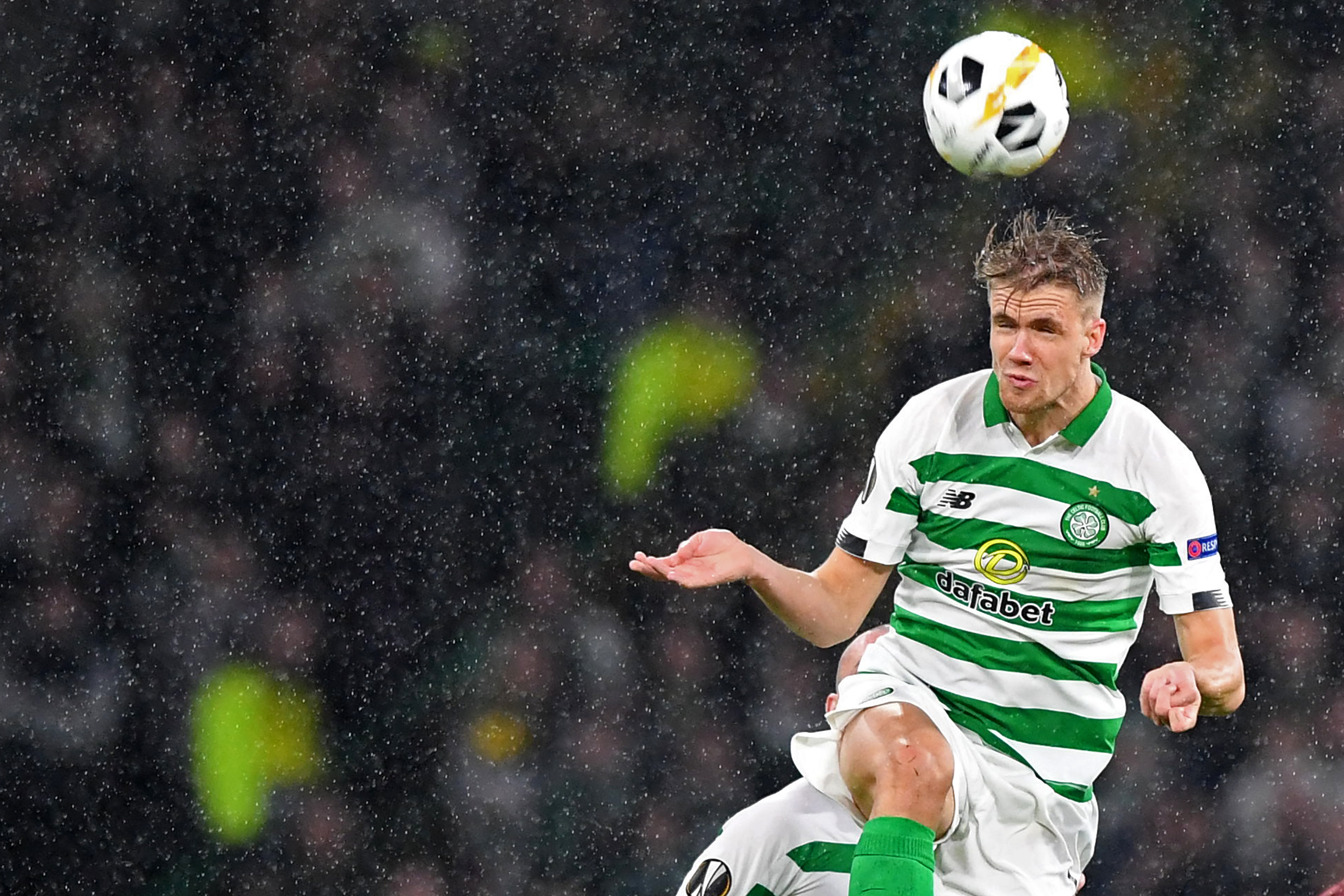 Celtic star Ajer is in action
