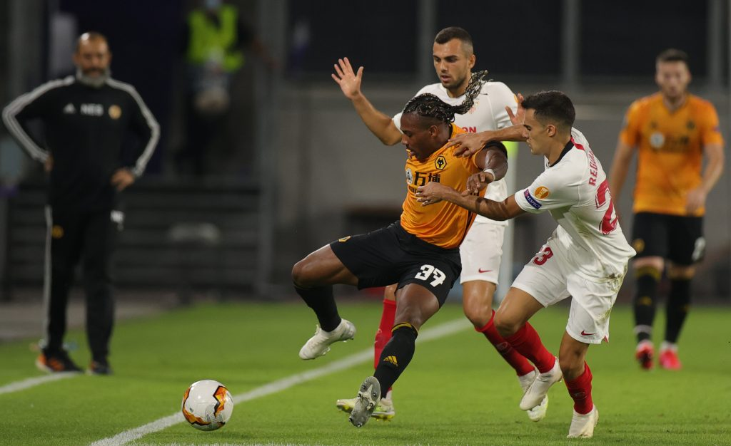 Wolverhampton Wanderers player ratings vs Sevilla (Wolves' Adama Traore is seen in the picture)