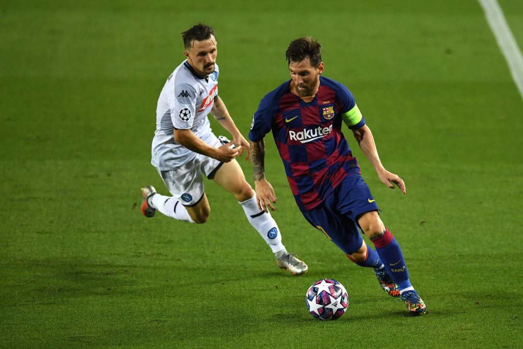 Manchester City set to intensify their efforts for Barcelona's Messi who is seen in the picture