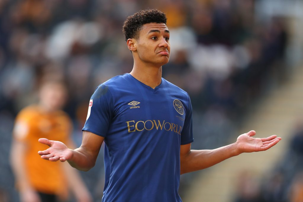 Aston Villa ready to offer Ollie Watkins a bumper deal (Watkins is in action in the photo)